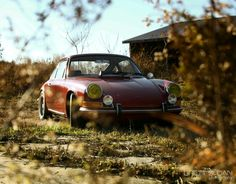Peeking out from behind the bushes. #Porsche #Style #Design #Cool #Classic