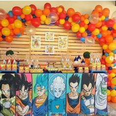 Festa Dragon Ball Z e Dragon Ball super - Mais de 50 ideias - Happy Birthday Dragon, Goku Birthday, Jesus Birthday, Ball Birthday Parties, Birthday Party Decorations, Dragonball Z Cake, Dbz, 2nd Birth, Dragon Party