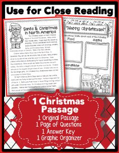 The winter rush is so much fun! In this freebie, you will find one original passage, with and without borders. Use the passage without borders for Close Reading and text annotating. You will also find one page of questions, one answer key, and one SUPER CUTE graphic organizer. Title: Christmas in North America (Santa Focused) Note: This passage is not in any of my other units. It's my gift to you! This FREEBIE compliments my newest unit. #Santa #Christmas #Winter #Reindeer