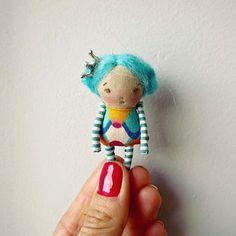 Blue #littleprincess #minidolls #handmadedolls