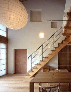 階段 Amazing Architecture, Architecture Design, Wrought Iron Stair Railing, Interior Styling, Interior Design, Japanese Modern, Modern Room, Stairways, House Plans