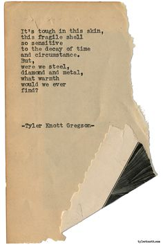 Tyler Knott — Typewriter Series #1780 by Tyler Knott Gregson