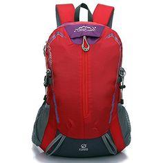 Local Lion unisex leger sac a dos de sport pour camping,Randonnee,voyage,rouge: Local Lion unisex léger sac à dos de sport pour…
