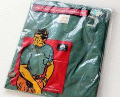 画像1: 80'sデッドストック Pocket Polo ポケット付きTシャツ 緑S
