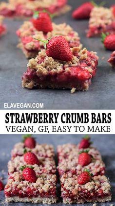 Sugar Free Desserts, Vegan Sweets, Healthy Dessert Recipes, Healthy Desserts, Whole Food Recipes, Healthy Strawberry Recipes, Dairy Free Recipes, Vegan Recipes, Cooking Recipes