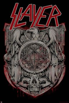 An awesome Slayer poster for any fan of the best Thrash Metal band on the planet! Check out the rest of our great selection of Slayer posters! Need Poster Mounts. Thrash Metal, Death Metal, Arte Heavy Metal, Heavy Metal Music, Heavy Metal Rock, Heavy Metal Bands, Rock Posters, Metal Band Logos, Kerry King