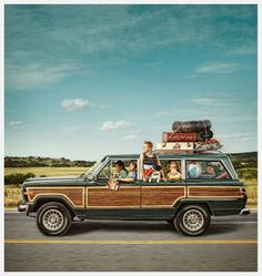 Wagoneer with Wood Panels Road Trip