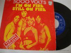 DISCO SINGLE 5000 VOLTS - I'M ON FIRE, STILL ON FIRE - SINGLE ESPAÑA