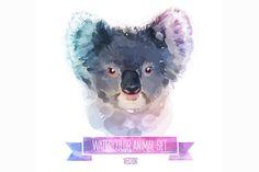 Watercolor set of animals | Coala by Krol on Creative Market