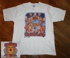 New 6-TIME NBA CHAMPIONS CHICAGO BULLS 1998 FINALS T-SHIRT-Men XL-Jordan/Pippen