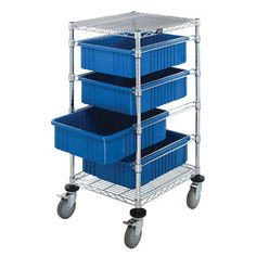 IV Start Cart from PilgrimMedical.com features autoclavable divider grid boxes