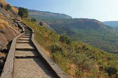 Stone stairway up to Karla and Bhaja Cave Temples just outside of Lonavla, Maharashtra, India. Climbing up these steps I knew I was about to reach spiritual heights, and the moments of solitude exceeded my expectations. A slice of heaven, simply. Next Holiday, Stairway To Heaven, To Reach, Pilgrim, Solitude, Stairways, Climbing, The Outsiders, Spirituality