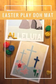 Religious Easter Play Doh Mat - Catholic Easter Play Doh Mat - Christian Easter Play Doh Mat - Digital Download - Empty Tomb - Crosses - Spring - Play Doh or Print and Frame - Printable - DIY - Catholic Prints - Christian Prints