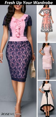 afrikanische kleider The simple and stylish style is a classic that will never change. Casual Work Dresses, Stylish Work Outfits, Pretty Outfits, Pretty Dresses, Beautiful Outfits, Dresses For Work, Diva Fashion, Womens Fashion, Moda Chic