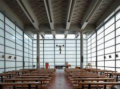 "Angelo Mangiarotti, SBG ARCHITETTI, Marco Introini · Restoration of the ""Church of Glass"" by Morassutti, Mangiarotti, Favini - 1958 Sacred Architecture, Church Architecture, Religious Architecture, Modern Architecture, World Wallpaper, Modern Church, Church Building, Modern Ceramics, Place Of Worship"