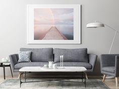 Zen rainbow art photograph of an evening rainbow over the calm water of Lake Ontario in Toronto. Rainbow Photography, Fine Art Photography, Landscape Photography, Modern Coastal, Coastal Art, Nautical Prints, Rainbow Art, Large Wall Art, Ontario