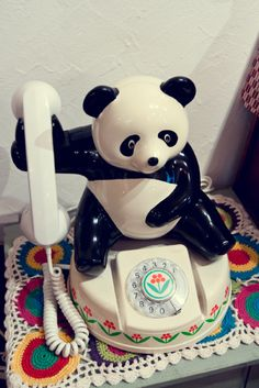 Panda Retro Telephone