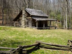 old cabins | The old dug road in Cataloochee | Endless streams and forests
