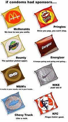 Als condooms sponsors zouden hebben