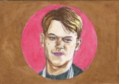 "Matt Damon as Tom Ripley by Vanessafari - #MattDamon as ""Mr Ripley"" by #Vanessafari. More drawings at vanessafari.com"