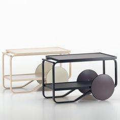 Hella Jongerius launches light and dark editions of Alvar Aalto tea trolley Alvar Aalto, Art Furniture, Contemporary Furniture, Furniture Design, Tea Trolley, Tea Cart, Architecture Organique, Butler Table, Tea Culture