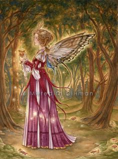 From my art blog pixilation:  Faerie Grail by MeredithDillman Prints of this painting are available at my website http://meredithdillman.com...