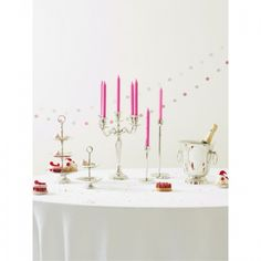 This traditional candle holder is ideal for creating that stylish look on your dining table.