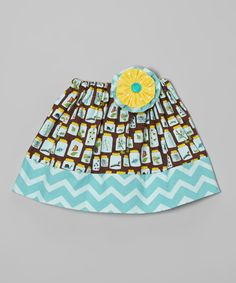 Look at this #zulilyfind! Heavenly Things for Angels on Earth Teal Bug Skirt & Flower Hair Clip - Infant, Toddler & Girls by Heavenly Things for Angels on Earth #zulilyfinds