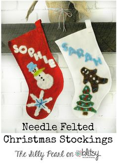 Felted Christmas Stockings on Blitsy - The Silly Pearl