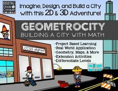Project Based Learning: GEOMETROCITY!  Build a City Made o