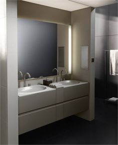 Double Wall Mounted Vanity / Built into partition walls