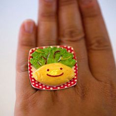 Kawaii Cute Japanese Miniature Food Ring   by fingerfooddelight, $12.00