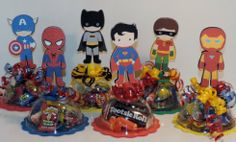 Super heroes, treat boxes
