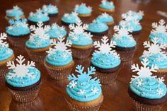 Cupecake flocon de Neige... (Kids birthday Frozen)
