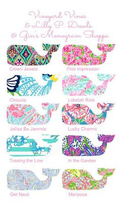 Vineyard Vines meets Lilly Pulitzer whale by GinsMonogramShoppe?