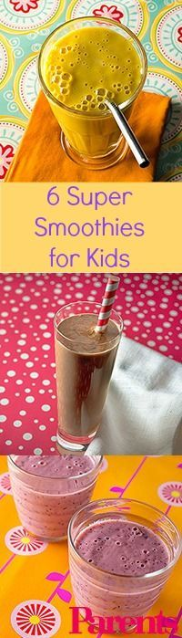 Packed with calcium, vitamins, and fiber, these delicious #smoothies would make an ideal breakfast or afternoon snack for kids and parents alike.