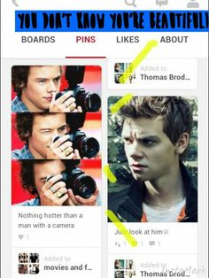Even Harry Styles thinks Thomas is a cutie<<< Everyone thinks Thomas is a cutie<<< And if they don't, they're lying.