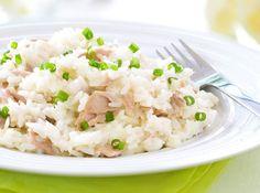 Receita de Risoto de Atum - Risoto, pode fazer que vale à pena! Muito bom e fácil de fazer. Realmente um prato simples mais de muito bom gosto....