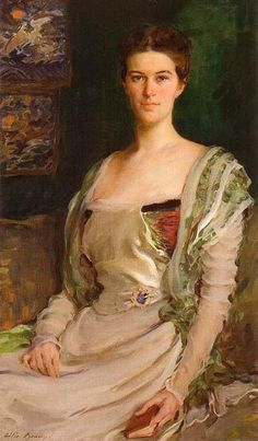 Mrs Isaac Newton Phelps Stokes   Edith Minturn, 1898, great-aunt of Edie Sedgwick, portrait by Cecilia Beaux