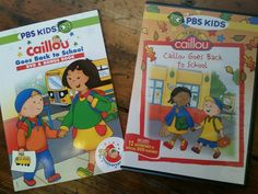 REVIEW: Caillou Goes To School DVD and BOOK!