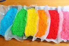 Como hacer arroz de colores | #Artividades                                                                                                                                                                                 Más