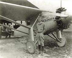 Charles Lindbergh completed the first solo flight across the Atlantic Ocean on May 21, 1927, landing his Spirit of St. Louis near Paris. (American Commercial Photographers / Missouri History Museum)