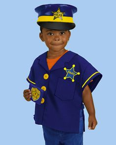 Toddler Police Officer Costume at Lakeshore Learning