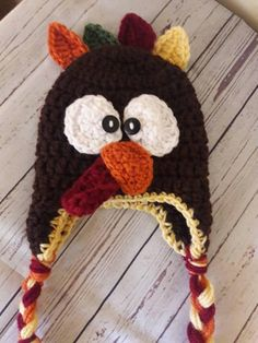 Check out this item in my Etsy shop https://www.etsy.com/listing/543719542/crochet-turkey-hat-halloween-costume