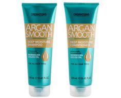 Creightons Argan Smooth Deep Moisture Shampoo & Conditioner 250mL