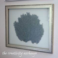 Tutorial for how to make double sided glass frames for displaying dyed sea fans or shells {The Creativity Exchange}