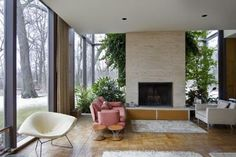 definition california contempory cedar house | Six Keck + Keck MidCentury Modern Homes in the Chicago Area