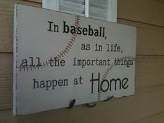 Baseball Sign by EmeraldCustomSigns on Etsy, $37.50