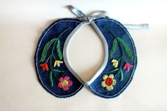 Upcycled Embroidered Collar via Etsy
