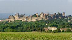 Een middeleeuwse stad in Frankrijk. Carcassonne.